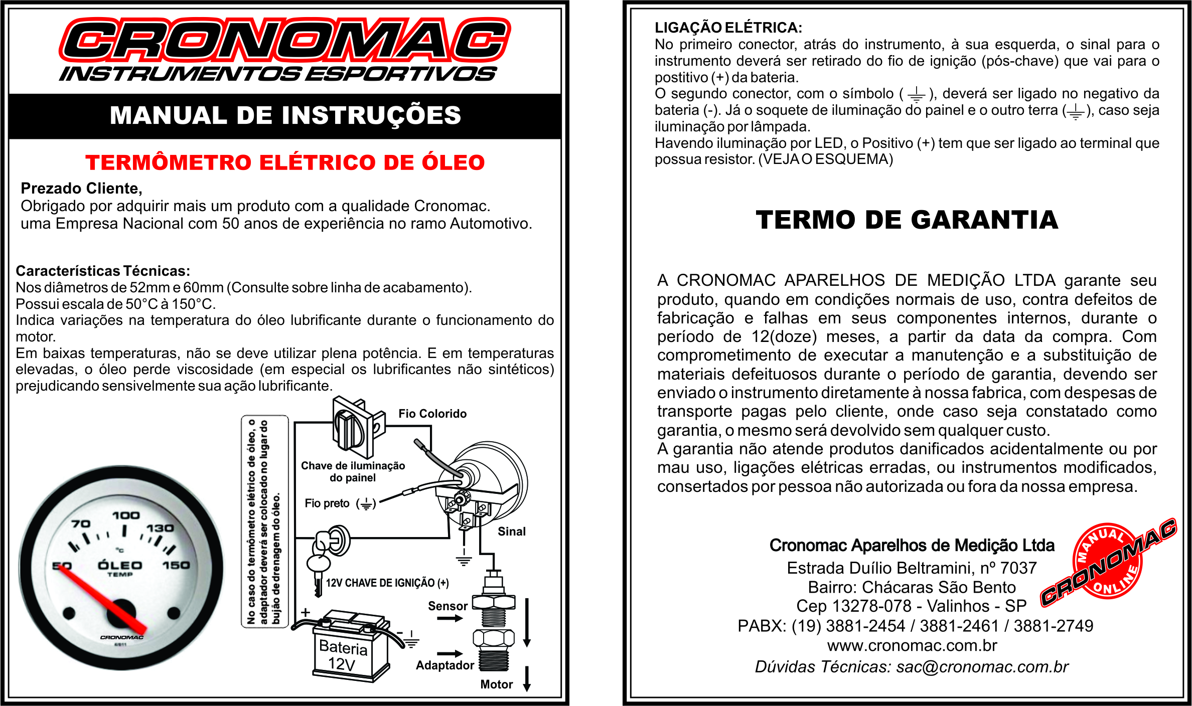 Manual Term. Elelétrico Oleo 1.2 ONLINE