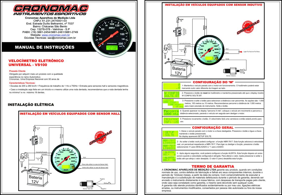 Velocímetro eletrônico 1.2 ONLINE