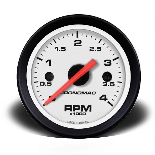 Conta-giros 60mm Diesel 4.000 RPM SB-Branco