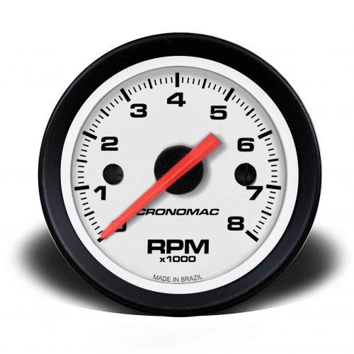 Conta-giros 60mm 8.000 RPM Street – Branco